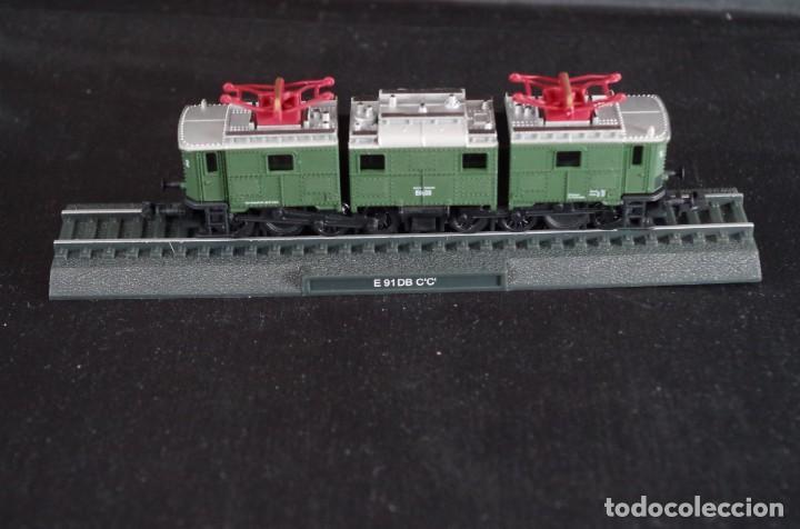 LOCOMOTORA E 91 DB C´C´DEUTSCHE REICHBAHM RENFE ESTÁTICA ESCALA N (Juguetes - Trenes Escala N - Otros Trenes Escala N)