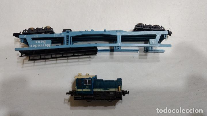 Trenes Escala: DESGUACE MAQUINA Y VAGON PORTACOCHES IBERTREN ESCALA N -BUEN PRECIO - Foto 4 - 239495835