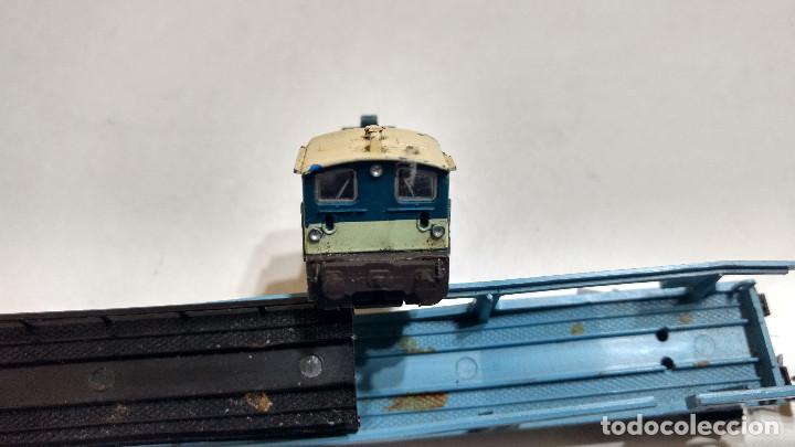 Trenes Escala: DESGUACE MAQUINA Y VAGON PORTACOCHES IBERTREN ESCALA N -BUEN PRECIO - Foto 5 - 239495835