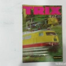Trenes Escala: MINITRIX - TRIX - N 1:160 - CATÁLOGO 1971 / 1972 EN ALEMÁN + HOJA MECANOGRAFIADA CON PRECIOS -(L). Lote 240635350