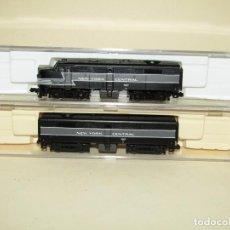 Trenes Escala: ANTIGUAS LOCOMOTORAS DE LA CIA AMERICANA NEW YORK CENTRAL CORRIENTE CONTINUA ESCALA *N* DE LIFE-LIKE. Lote 242060885