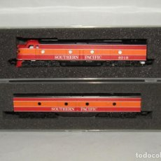 Trains Échelle: ANTIGUAS LOCOMOTORAS 12 EJES DE LA CIA. AMERICANA SOUTHERN PACIFIC ESCALA *N* DE CON-COR. Lote 242070070