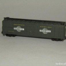 Trenes Escala: VAGÓN 4 EJES DE LA CIA. AMERICANA BORDEN'S PRODUCTOS DE GRANJA ESCALA *N* DE BACHMANN. Lote 242123535