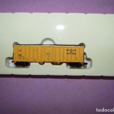 Trenes Escala: VAGÓN 4 EJES POST BOX CAR DE LA CIA. AMERICANA GREEN BAY & WESTERN EN ESCALA *N* DE WALTHERS USA. Lote 244834660
