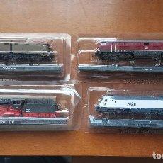 Trenes Escala: OCASION ! SUPER LOTE LOCOMOTORAS VAGONES TRENES NUEVOS ESCALA N CLUB INTERNACIONAL DEL LIBRO. Lote 244839440