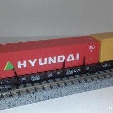 Trenes Escala: MINITRIX N PLATAFORMA CONTENEDORES -- L48-226 (CON COMPRA DE 5 LOTES O MAS, ENVÍO GRATIS). Lote 248036725