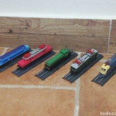 Trenes Escala: LOTE 5 TRENES LOCOMOTORAS CO-CO BO-BO TOTALMENTE NUEVO EN BLISTER CON FICHA. Lote 263209110
