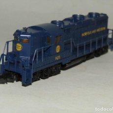 Trenes Escala: LOCOMOTORA DIESEL GP18 DE LA CIA. AMERICANA NORFOLK AND WESTERN EN ESCALA *N* DE LIFE-LIKE. Lote 252174035