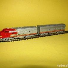 Trenes Escala: LOCOMOTORAS MOTORIZADAS DE LA CIA. AMERICANA SANTA FE ESCALA *N* DE BACHMANN PLUS. Lote 256565830