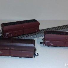 Trenes Escala: MINITRIX N 3 TOLVAS CARBÓN -- L49-047 (CON COMPRA DE 5 LOTES O MAS, ENVÍO GRATIS). Lote 257296645