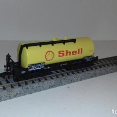 Trenes Escala: MINITRIX N CISTERNA 4 EJES SHELL -- L49-050 (CON COMPRA DE 5 LOTES O MAS, ENVÍO GRATIS). Lote 257296915