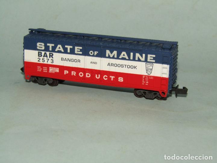 Trenes Escala: Vagón Tolva de la Cia. Americana STATE OF MAINE en Escala *N* de ATLAS - Foto 3 - 257482630