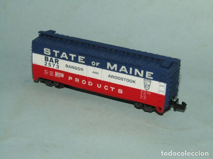 Trenes Escala: Vagón Tolva de la Cia. Americana STATE OF MAINE en Escala *N* de ATLAS - Foto 4 - 257482630