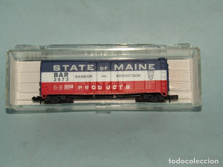 Trenes Escala: Vagón Tolva de la Cia. Americana STATE OF MAINE en Escala *N* de ATLAS - Foto 5 - 257482630