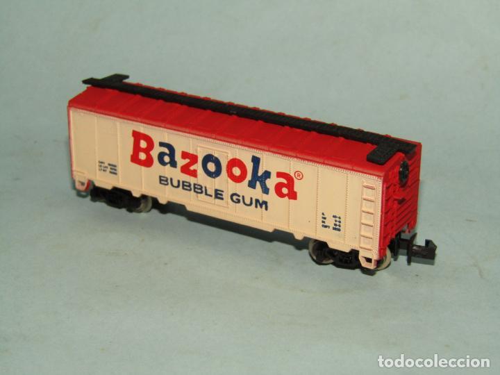 Trenes Escala: Vagón Cerrado Publicidad del Chicle BAZOOKA en Escala *N* de MODEL POWER - Foto 2 - 257484090