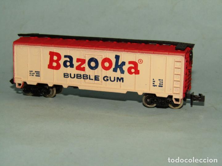 Trenes Escala: Vagón Cerrado Publicidad del Chicle BAZOOKA en Escala *N* de MODEL POWER - Foto 4 - 257484090