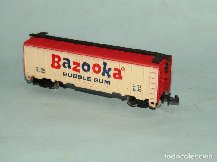 Trenes Escala: Vagón Cerrado Publicidad del Chicle BAZOOKA en Escala *N* de MODEL POWER - Foto 3 - 257484250
