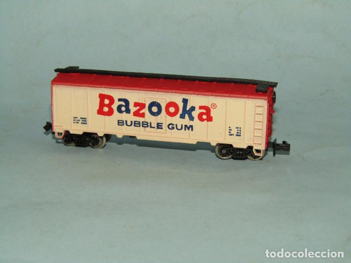 Trenes Escala: Vagón Cerrado Publicidad del Chicle BAZOOKA en Escala *N* de MODEL POWER - Foto 4 - 257484250