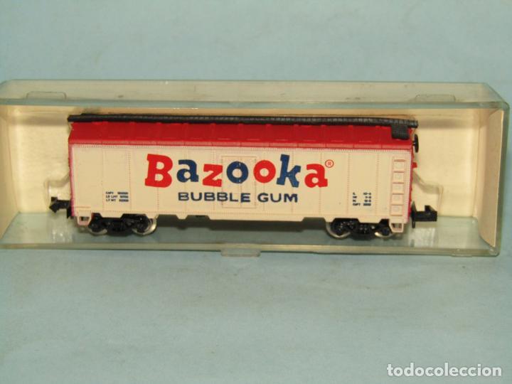 Trenes Escala: Vagón Cerrado Publicidad del Chicle BAZOOKA en Escala *N* de MODEL POWER - Foto 5 - 257484250
