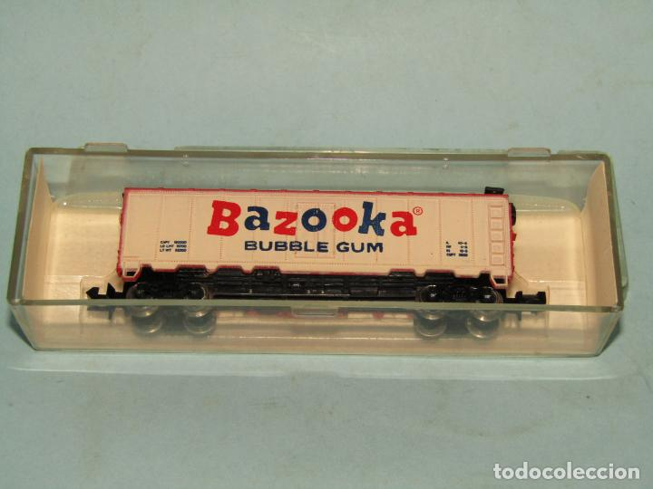 VAGÓN CERRADO PUBLICIDAD DEL CHICLE BAZOOKA EN ESCALA *N* DE MODEL POWER (Juguetes - Trenes Escala N - Otros Trenes Escala N)