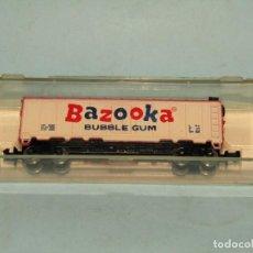 Trenes Escala: VAGÓN CERRADO PUBLICIDAD DEL CHICLE BAZOOKA EN ESCALA *N* DE MODEL POWER. Lote 257484250