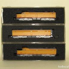 Trenes Escala: COMPOSICIÓN 3 LOCOMOTORAS DIESEL ALCO DE LA CIA. AMERICANA UNION PACIFIC ESCALA *N* DE CON-COR. Lote 258127055