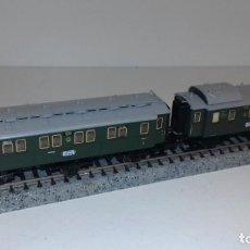 Trenes Escala: MINITRIX N 2 PASAJEROS 3 EJES 1ª, 2ª Y EQUIPA -- L49-154 (CON COMPRA DE 5 LOTES O MAS, ENVÍO GRATIS). Lote 261093965