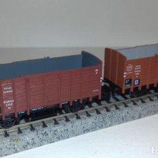 Trenes Escala: MINITRIX N 2 BORDE ALTO, UNO CON GARITA -- L49-172 (CON COMPRA DE 5 LOTES O MAS, ENVÍO GRATIS). Lote 261253835