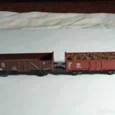 Trenes Escala: LOTE VAGONES BORDE ALTO ESCALA N DE MINITRIX. Lote 262456505