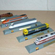 Trenes Escala: LOTE 5 LOCOMOTORAS ADORNO RENFE 319.4 TALGO 352 AVE 100 TGV FRANCE 232 T REMEMBRANCE CLASS DIECAST. Lote 262471260