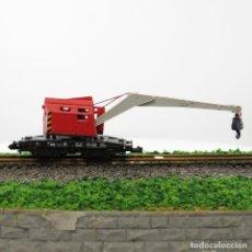 Trenes Escala: GRÚA KRUPP - ARDELT DE MINITRIX ROJA. ESCALA 1/160 N. Lote 263076820