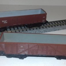 Trenes Escala: PIKO N 2 VAGONES BORDE ALTO 4 EJES -- L49-249 (CON COMPRA DE 5 LOTES O MAS, ENVÍO GRATIS). Lote 263542515