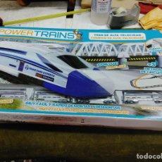 Trenes Escala: ESCALA N - POWER TRAINS TREN DE ALTA VELOCIDAD, 5 M VIAS MAS PUENTE, DE FAMOSA- COMPLETO FUNCIONA. Lote 263599940