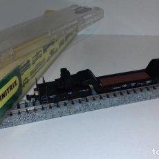 Trenes Escala: MINITRIX N PLATAFORMA TRANSPORTE PESADO 6 EJE -- L49-285 (CON COMPRA DE 5 LOTES O MAS, ENVÍO GRATIS). Lote 264229400