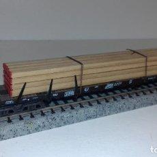 Trenes Escala: MINITRIX N PLATAFORMA CARGA LISTONES -- L48-283 (CON COMPRA DE 5 LOTES O MAS, ENVÍO GRATIS). Lote 264421439