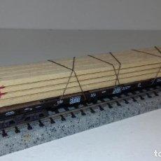Trenes Escala: MINITRIX N PLATAFORMA CARGA LISTONES -- L48-284 (CON COMPRA DE 5 LOTES O MAS, ENVÍO GRATIS). Lote 264421584
