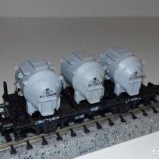 Trenes Escala: MINITRIX N PLATAFORMA DEPÓSITOS -- L49-296 (CON COMPRA DE 5 LOTES O MAS, ENVÍO GRATIS). Lote 265219524