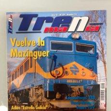 Trenes Escala: TRENMANIA 49, RENFE 269-601-1 MAZINGUER, FERROCARRIL VASCO-NAVARRO II, EL ESTRELLA GALICIA, MAQUETA. Lote 269344733