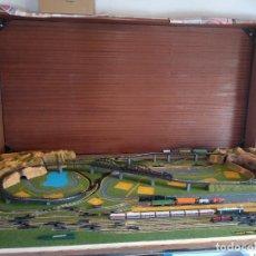 Trenes Escala: MAQUETA DE TRENES IBERTREN IBERAMA 570 , EL MÁS COMPLETO ESCALA N , FUNCIONANDO. Lote 270364723