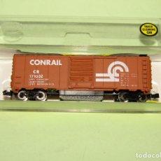 Trenes Escala: ANTIGUO VAGÓN BOX CAR 50 TON. LIMPIAVIAS DE LA CIA. AMERICANA CONRAIL EN ESC. *N* DE MODEL POWER. Lote 275146958