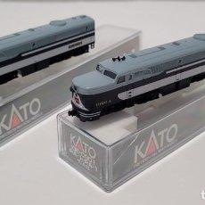 Trenes Escala: KATO 106-0901 - SET LOCOMOTORAS DIESEL PA-1 WABASH, ESCALA N. Lote 276491958