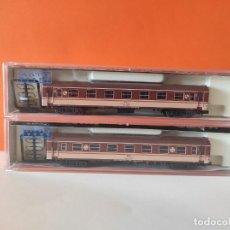 Comboios Escala: KATO N 2 VAGONES RENFE SERIE 5000 REF 156-2001 Y 156-2002. Lote 277127783