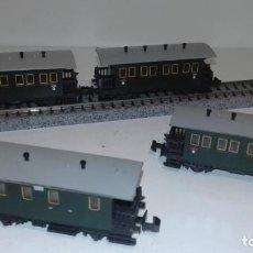 Trenes Escala: MINITRIX N 4 VAG. PASAJEROS CLÁSICOS -- L50-051 (CON COMPRA DE 5 LOTES O MAS, ENVÍO GRATIS). Lote 280705663