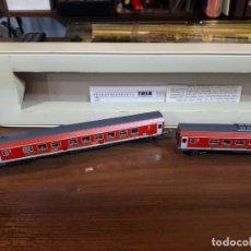 Trenes Escala: MINITRIX, CAJA DOS VAGONES JÄGERMEIFTER. Lote 281799598