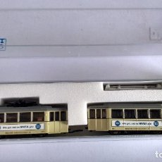 Trenes Escala: KATO N REF 14631, TRANVÍA 2 COCHES,MOTORIZADO. FUNCIONA. VÁLIDO IBERTREN 2N,ROCO,FLEISCHMANN,ETC. Lote 284359263