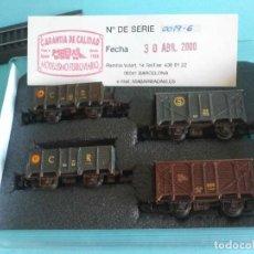 Trenes Escala: LOTE DE CUATRO VAGONES DE MERCANCIAS - MABAR 0019-6. Lote 287162963