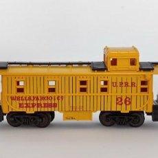 Trenes Escala: TRIX -ESC. N - SIN CAJA - CABOOSE UNION PACIFIC WELLS FARGO 26 - USA 50GR. Lote 288389738