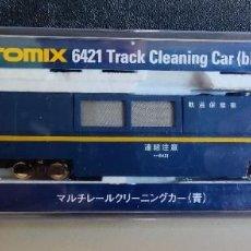 Trenes Escala: TOMIX 6421 TRACK CLEANING CAR (BLUE) LIMPIA VIAS EN EXCELENTE ESTADO. Lote 288432868