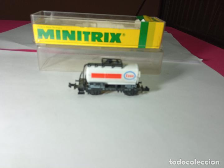 VAGÓN CISTERNA ESCALA N DE MINITRIX (Juguetes - Trenes Escala N - Otros Trenes Escala N)
