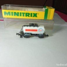 Trenes Escala: VAGÓN CISTERNA ESCALA N DE MINITRIX. Lote 288547773